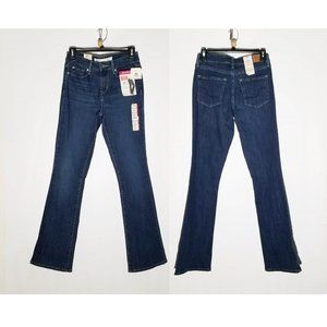 NWT 2M W26 Signature by Levi Strauss Women Shaping Mid Rise Bootcut denim Jeans